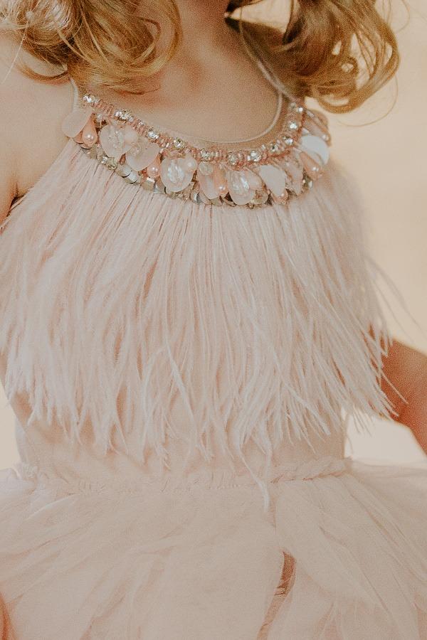 TUTU DU MONDE Swan Queen Tutu Dress - Nude - SMALL SMARTS